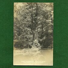 VINTAGE GIRL SCOUT - REAL PHOTO POSTCARD -  CAMP LEDGEWOOD - AKRON GIRL SCOUTS