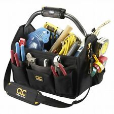CLC Tech Gear 15-inch Open Top Tool Bag w/LED Light