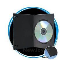 25 Black 7mm Slim Single CD DVD Movie Case Storage Box