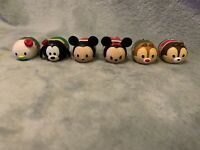 Disney Tsum Tsum Bundle - Xmas Mickey Mouse, Minnie Mouse, Donald, Goofy, Chip..