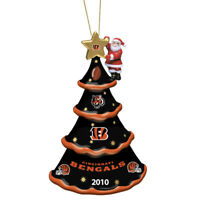 2010 Annual Cincinnati Bengals Christmas Tree Ornament Danbury Mint NEW