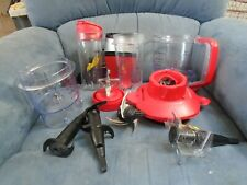 Ninja Pulse Red Blender W/2 Travel Mug Attachments, Pitcher, blades, Accessories