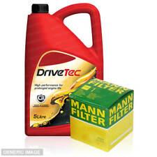 Service Kit Mann Oil Filter Drivetec 5W30 Fully Synthetic 5L Dura Pro Engine Oil
