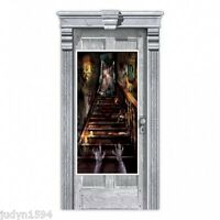 HALLOWEEN HORROR HAUNTED HOUSE DOOR COVER POSTER BANNER PARTY DECORATION GHOST