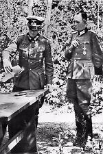 WW2 - Général Jodl et Lt-colonel Schmundt, aide de camp d'Hitler en 1940