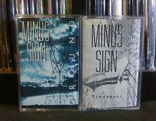 Minus Sign 2 Cassette Lot RARE Electro Industrial Mitchell Sigman Gordon Bleu
