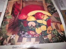 "Golden Bee OVAL FRUIT BASKET Plastic Canvas Kit - Complete - Started 10"" x 8"""