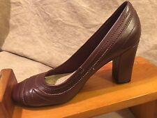"Rockport Adiprene by Adidas ""Helena"" Burgundy Leather Sz 7.5 M Pump Heels S-4"
