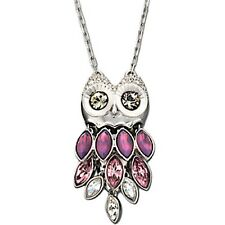 AUTHENTIC SIGNED SWAROVSKI PRISCA OWL LONG PENDANT NECKLACE 1108391 NIB