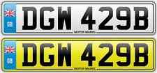 CHERISHED NUMBER PLATE -DGW 429B - DGW 429 BIG BLOCK CHEVY V8 HEMI COBRA FORD