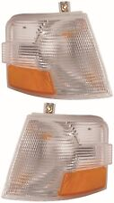 VOLVO VN VNL VNM TURN SIGNAL CORNER LIGHTS PAIR LAMPS 1996-2003 1997 1998 1999
