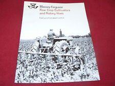 Massey Ferguson 144 146 154 156 158 Cultivator Dealer's Brochure 387/366-25-1
