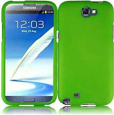 For Samsung Galaxy Note II 2 Rubberized HARD Case Snap On Phone Cover Neon Green