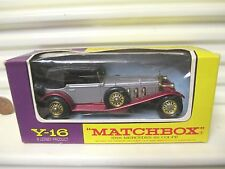MATCHBOX YESTERYEAR Y16 SILVER MERCEDES with DIFFERENTIAL Smooth BLACK TRUNK MB*