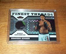 2011 Topps Finest UFC Brandon Schaub Serial #'d  Fighter Worn Relic Swatch Card