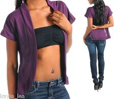 Purple Cap Sleeve Drape Bolero/Shrug/Cardigan/Cover-Up