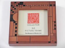 "Frank Lloyd Wright COONLEY Design Wood Picture Photo Frame 3"" x 3"""