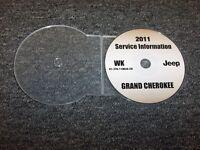 2011 Jeep Grand Cherokee Shop Service Repair Manual DVD Laredo Limited Overland