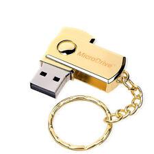 16Go USB 2.0 Clé USB Clef Mémoire Flash Data Stockage / Chaine Porte-clés Or