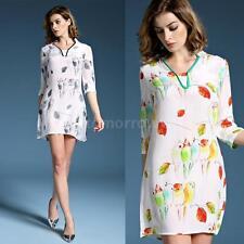 3/4 Sleeve Animal Print Regular Formal Dresses for Women