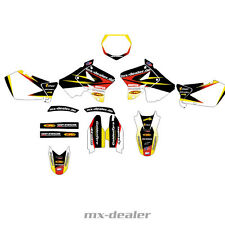 MX Venditore Decorazione Kit decorativo Bici Graphic Suzuki RM 125 250 01-09