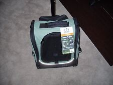 Pet Gear I-GO2 Traveler Rolling Backpack Carrier for Cats and Dogs Sage no box