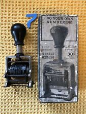 More details for antique the lighning no 999 mechanical number machine hand printing