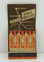 Vintage Feature Matchbook Harry Collier's Restaurant GA Fish Lobster Matches