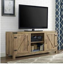 """Rustic TV Stand Console Up To 60"""" Barn Wood Farmhouse Home Entertainment Center"""