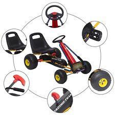 HOMCOM Go Kart Coche a Pedales para Niños +3 Años 96x68x56cm Carga 30kg Acero