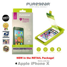PureGear HD Curved Tempered Glass Screen Protector (w/ Tray) for Apple iPhone X