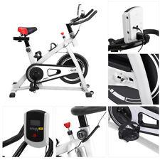 Bicicleta Estatica Asiento Regulable Pantalla LCD CON Volante Inercia 100kg LU