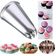 Drop Rose Flower Cup Ice Cream Piping Tip Nozzle Cake Decoration Pastry Tool EW