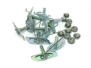 "10pcs body moulding trim clips for 1""- 1-1/8"" moulding ss keps nut Fits dodge"
