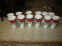 12 Unused Fighting Sioux Ralph Engelstad Arena 32oz Cup's W/Lids!!!