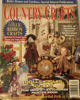 Country Crafts Magazine Summer 1996 Blue Ribbon Crafts, Dolls, Quilts,Felt, Wool