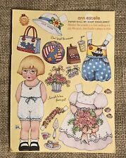 Mary Engelbreit Magazine ~Ann Estelle Paper Dolls Uncut Sheet~June July