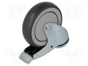 Transport Roller H:157mm Rotary Wheel With Lock W: 27mm Ø: 125mm 120kg Bdpe