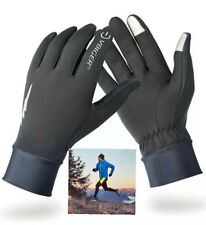 running gloves mens/womens (L) black ,touch screen, reflective ,despatch from uk