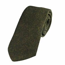 Genuine Dark Green Wool Tweed Tie - Made in the UK (U120/18)