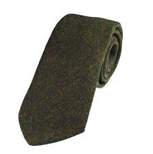 Genuine Dark Green Wool Tweed Tie - Made in the UK (U120/18)