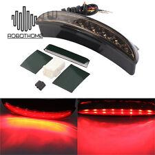 Motorcycle Rear LED Brake Tail light For Harley Sportster XL 883 1200 Smoke Lens