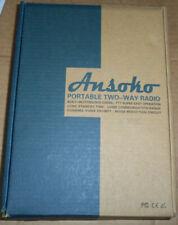 2 pack set ANSOKO PORTABLE TWO-WAY RADIO VHF/UHF FM TRANSCEIVER CTCSS/DCS nib