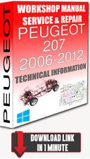 Service Workshop Manual & Repair PEUGEOT 207 2006-2012 +WIRING | FOR DOWNLOAD