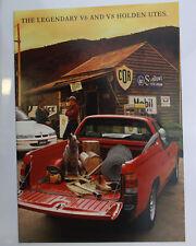 Used Holden Commodore VR Ute Sales Brochure Memorabilia Legendary V6 & V8 Red