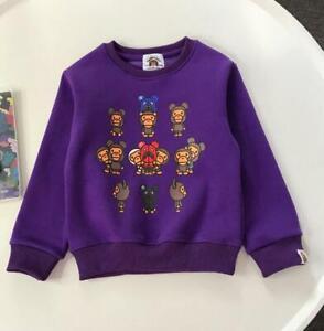 2022 Kids Boy Girl Shark Plus Velvet Pullover Hoodie Sweatershirt Winter Hoodies