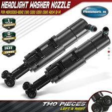 2x Headlight Washer Nozzle LH & RH for Mercedes-Benz C180 C220 C280 W204 2012-14