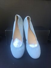 J. CREW CeCe Flats Suede Made in Italy Mint Green Size 10 Grayish Green
