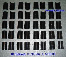 "5 SETS (20 Pair) SPLIT SLEEVES/Shelf Clips for ALL 1"" Metro-Style Wire Shelving"