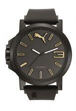 Puma Herrenuhr Uhr Ultrasize Schwarz 10 ATM 50 mm Groß PU103461020
